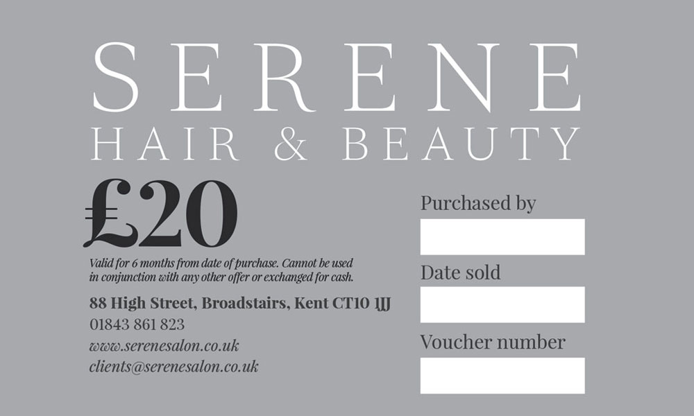 Vouchers at Serene Hair & Beauty